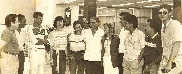 Gabo y McCausland en sus épocas de reportero judicial en El Heraldo.
