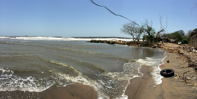 Panorámica del Muelle desde la playa